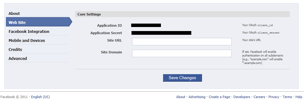 Creating a Facebook Application